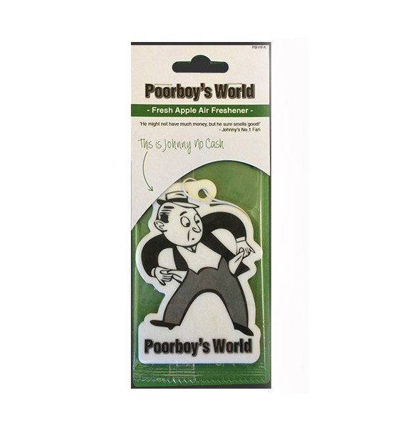 Poorboys Fresh Apple Air Freshener - Ambientador para colgar