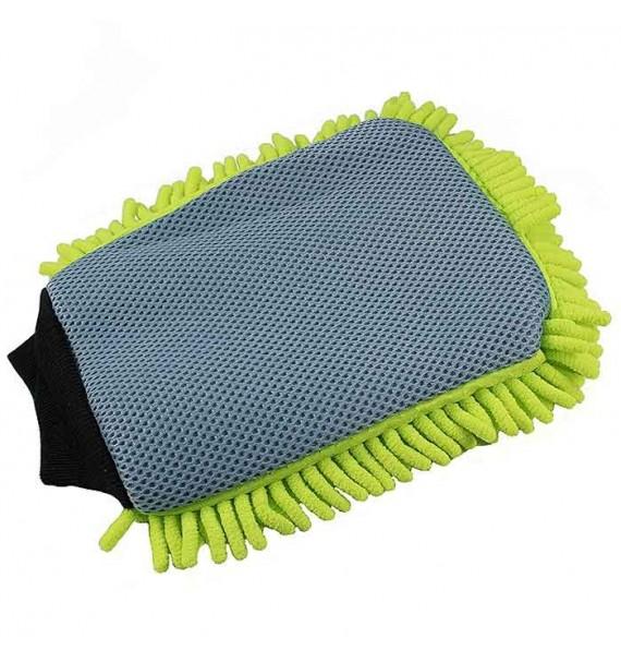 Guante de lavado con red anti insectos verde